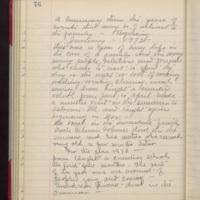 "Page 76 Written by Mahaska """"Hattie"""" Byington Whetstone from I.B. Reed notebook entry"