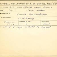 Thomas Wilmer Dewing, egg card # 757u