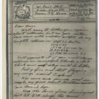 1943-07-12 SSGT L.L. Austin to W. Earl Hall