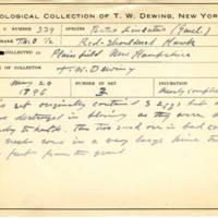 Thomas Wilmer Dewing, egg card # 225