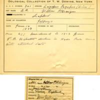 Thomas Wilmer Dewing, egg card # 196