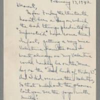 1942-02-13 Laura Davis to Lloyd Davis Page 1