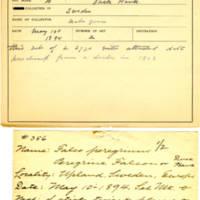 Thomas Wilmer Dewing, egg card # 235
