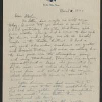 1944-03-10 Helen Fox to Bess Peebles Fox Page 1