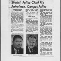 "1971-06-11 Iowa City Press-Citizen Article: """"Sheriff, Police Chief Rip Patrolmen, Campus Police"""""