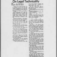 "1971-05-22 Daily Iowan Article: """"Alan Garfield Acquitted On Legal Technicality"""""