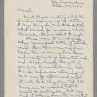 1942-10-27 Laura Davis to Lloyd Davis Page 1