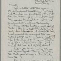 1943-03-15 Laura Davis to Lloyd Davis Page 1