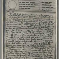 1943-05-11 Laura Davis to Lloyd Davis Page 1