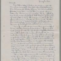 1942-01-04 Laura Davis to Lloyd Davis Page 1