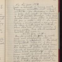 "Page 77 Written by Mahaska """"Hattie"""" Byington Whetstone from I.B. Reed notebook entry"