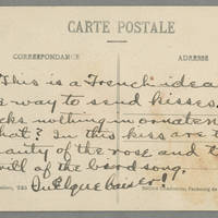 Postcard: Conger Reynolds to Daphne Reynolds - Back
