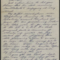 1945-08-21 Sgt. J.W. Weston to Dave Elder Page 1