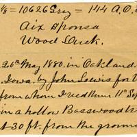 Clinton Mellen Jones, egg card # 174