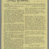 1970-05-12 Newsletter: MEASURE: Emergency Supplements No. 2 Page 1
