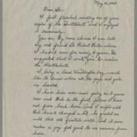 1945-05-16 Cpl. Bernard F. Edwards to Dave Elder Page 1