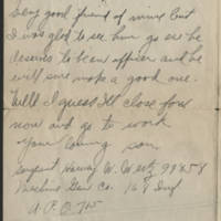 1918-10-23 Harvey Wertz to Mr. L.A. Wertz Page 3