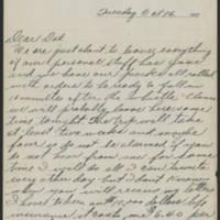 1917-10-16 Harvey Wertz to Miss Dorothy Wertz Page 1