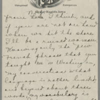 1919-04-14 Daphne Reynolds to Conger Reynolds Page 2
