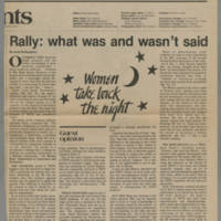 """1982-12-07 Daily Iowan Guest Opinion: """"Rally: what was and wasn't said"""""""