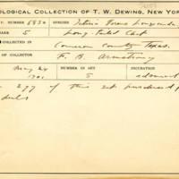 Thomas Wilmer Dewing, egg card # 790u