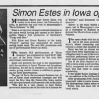 """1985-03-03 """"""""Simon Estes in Iowa opera"""""""""""