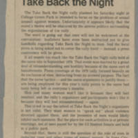 Viewpoint: Take Back the Night