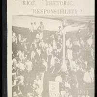 """""Iowa '70: Riot, Rhetoric, Responsibility?"""" Page 1"