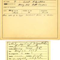 Thomas Wilmer Dewing, egg card # 367