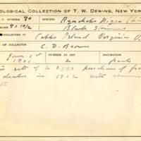 Thomas Wilmer Dewing, egg card # 640u