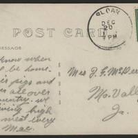 1917-12-20 Postcard - back
