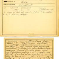 Thomas Wilmer Dewing, egg card # 385
