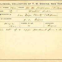 Thomas Wilmer Dewing, egg card # 839u