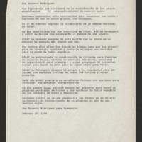 "1974-02-20 Ernesto Rodriguez transcript for """"Viewpoint"""" [in Spanish]"