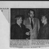 "1953-11-23 Burlington Hawk-Eye Gazette: """"United Negro College Forum"""""