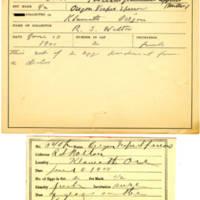 Thomas Wilmer Dewing, egg card # 431