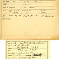Thomas Wilmer Dewing, egg card # 736u
