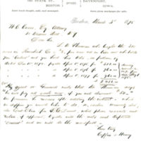 John L. Coffin, land agent in Davenport, Iowa, correspondence with land speculator Thomas Clark Durant in New York, part 4, 1875-1881