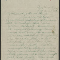 1918-08-31 Thomas Messenger to Mrs. N.H. Messenger Page 1