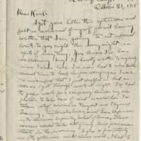 1918-10-21 Bob Browning to Karl Hoffman Page 1