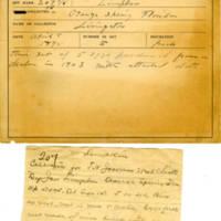 Thomas Wilmer Dewing, egg card # 153
