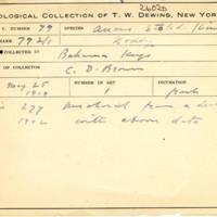 Thomas Wilmer Dewing, egg card # 061