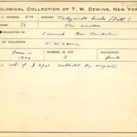 Thomas Wilmer Dewing, egg card # 751u