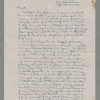 1942-09-27 Laura Davis to Lloyd Davis Page 1
