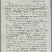 1942-02-06 Laura Davis to Lloyd Davis Page 1