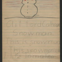 Clifford drawing of Snowman