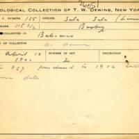 Thomas Wilmer Dewing, egg card # 070