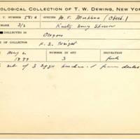 Thomas Wilmer Dewing, egg card # 462