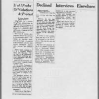 "1970-12-11 Des Moines Register Article: """"U of I Probe Of Violations At Protest"""""