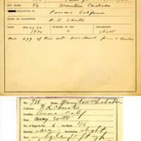 Thomas Wilmer Dewing, egg card # 821u